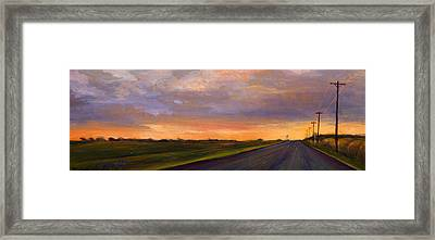 Electric Sunset 2 Framed Print by Athena  Mantle