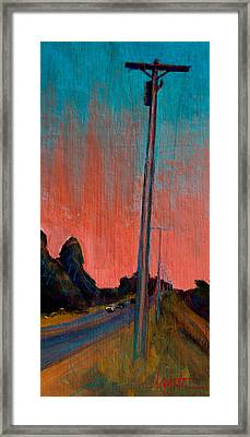 Electric Sunset Framed Print by Athena  Mantle