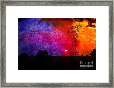 Electric Sunset Framed Print by R Kyllo