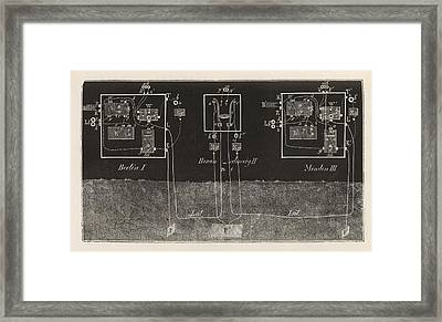 Electric Telegraphy In Germany Framed Print by King's College London