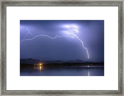 Electrical Arcing Sky Framed Print by James BO  Insogna