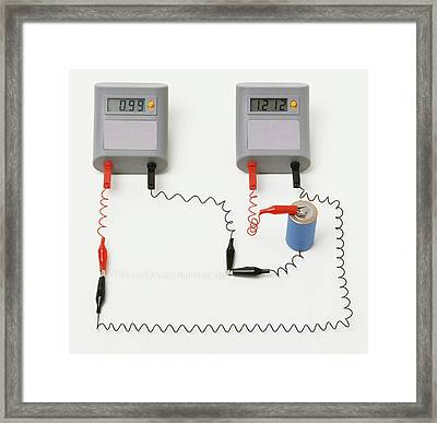 Electrical Circuit With Ammeter Framed Print by Dorling Kindersley/uig