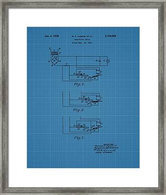 Electrical Relay Blueprint Patent Framed Print by Dan Sproul