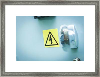 Electrical Warning Sign Framed Print by Gustoimages