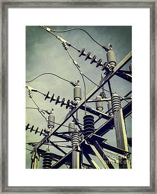 Electricity Framed Print by Edward Fielding