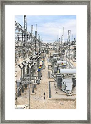 Electricity Transformation Substation Framed Print by Photostock-israel
