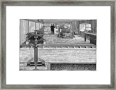 Electricity Transmission Tests Framed Print by Science Photo Library