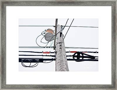 Electricpoles-5 Framed Print by Pittsburgh Photo Company