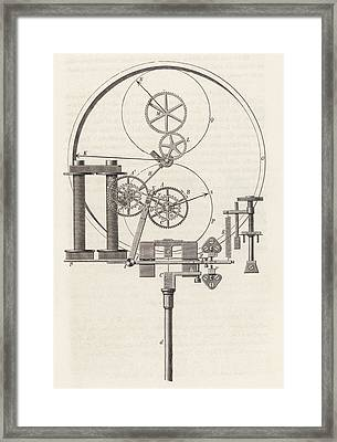 Electromagnetic Clock Framed Print by King's College London