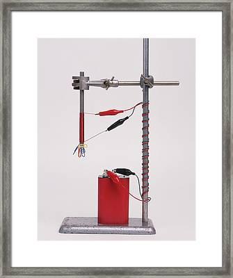 Electromagnetic Experiment Framed Print by Dorling Kindersley/uig