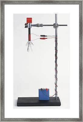 Electromagnetic Experiment Using Battery Framed Print by Dorling Kindersley/uig