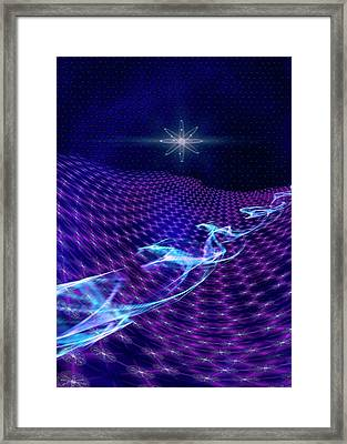 Electron Flow In Graphene Framed Print by Richard Kail