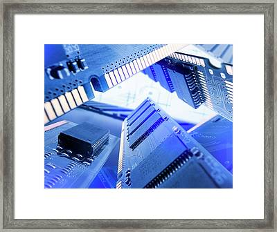 Electronic Components Framed Print by Richard Kail