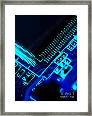 Electronics Framed Print by Peter Gudella
