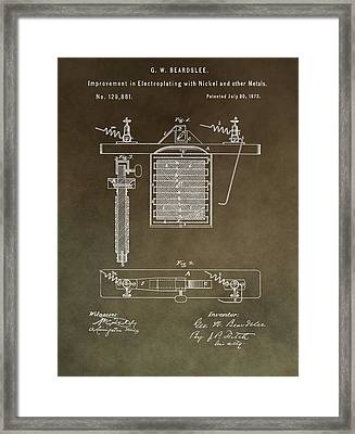 Electroplating Procedure Patent Framed Print by Dan Sproul