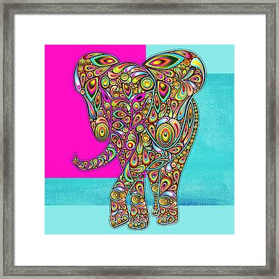 Elefantos - 01ac02aa Framed Print by Variance Collections