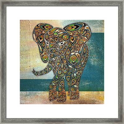 Elefantos - 01ac03at03b Framed Print by Variance Collections