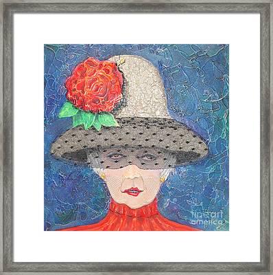 Elegance Is Her Middle Name Framed Print by Freddie Lieberman