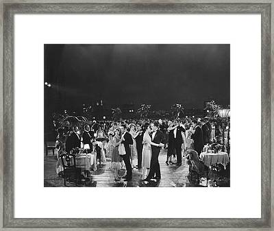 Elegant Outdoor Dance Party Framed Print by Underwood Archives