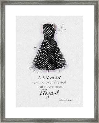 Elegant Framed Print by Rebecca Jenkins