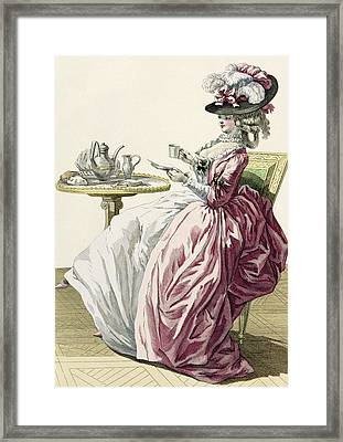 Elegant Woman In A Dress A Langlaise Framed Print by Pierre Thomas Le Clerc
