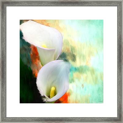 Elegantly Pure Framed Print by Lourry Legarde