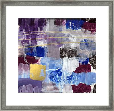 Elemental- Abstract Expressionist Painting Framed Print by Linda Woods