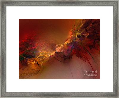Elemental Force-abstract Art Framed Print by Karin Kuhlmann