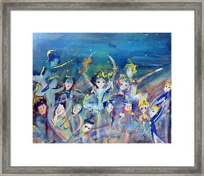 Elementals On The Beach Ballet Framed Print by Judith Desrosiers