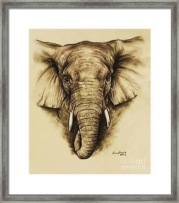 Elephant 2 Framed Print by Anastasis  Anastasi