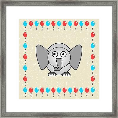 Elephant - Animals - Art For Kids Framed Print by Anastasiya Malakhova