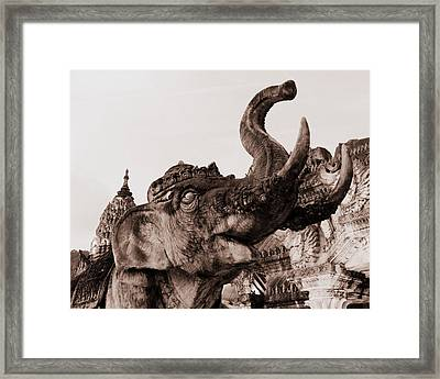 Elephant Architecture Framed Print by Ramona Johnston