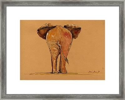 Elephant Back Framed Print by Juan  Bosco
