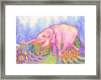 Elephant Framed Print by Cherie Sexsmith