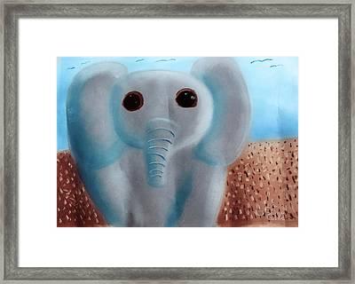 Elephant Framed Print by Joshua Maddison
