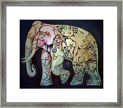 Elephant Framed Print by Kritsana Tasingh