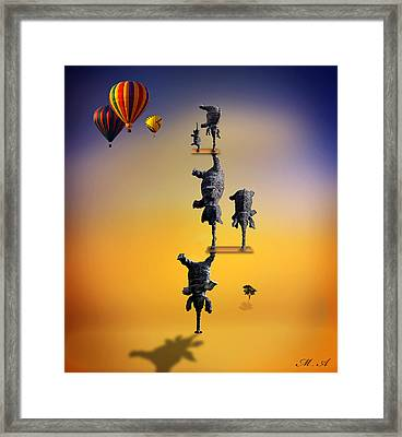 Elephant Life 2 Framed Print by Mark Ashkenazi