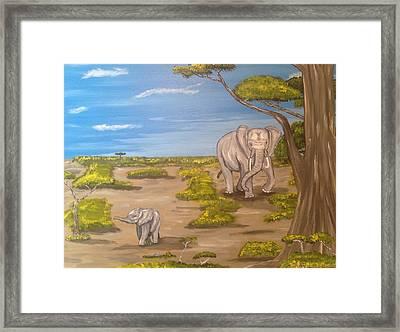Elephants Framed Print by Scott Wilmot