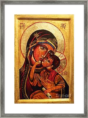 Eleusa II Icon Framed Print by Ryszard Sleczka