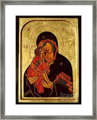 Eleusa IIi Icon Framed Print by Ryszard Sleczka