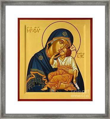 Eleusa Iv Icon Framed Print by Ryszard Sleczka
