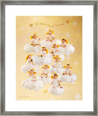 Eleven Pipers Piping Framed Print by Anne Geddes