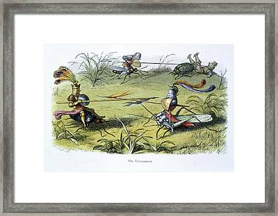 Elf Knights Jousting Framed Print by British Library