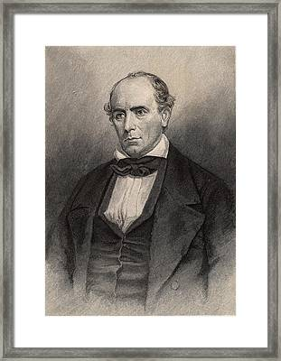 Elisha Mitchell American Naturalist Framed Print by Universal History Archive/uig