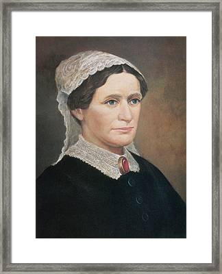 Eliza Johnson, First Lady Framed Print by Science Source