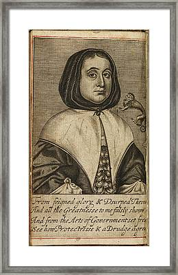 Elizabeth Cromwell Framed Print by British Library