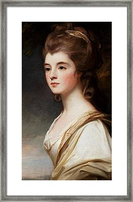 Elizabeth Duchess Of Sutherland Framed Print by George Romney