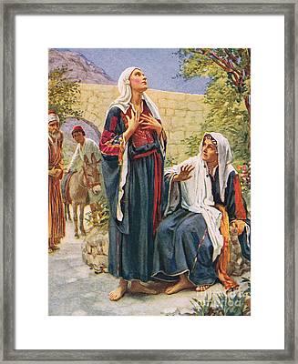 Elizabeth Framed Print by Harold Copping