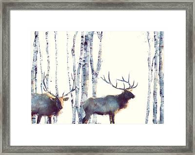 Elk // Follow Framed Print by Amy Hamilton
