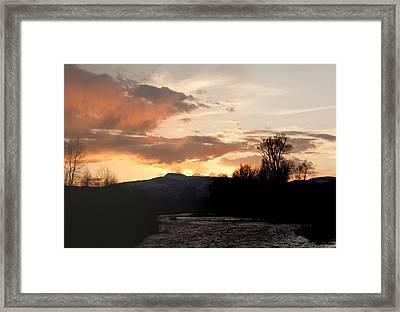 Elk River N Pilots Nob Sunset Framed Print by Daniel Hebard